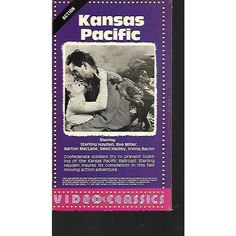Kansas Pacific Sterling Hayden Western VHS Listing in the Westerns,VHS,Movies & DVD Category on eBid United States   164205665