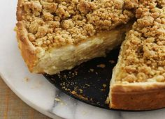 Deep Dish Sour Cream Apple Pie with Cardamon Streusel