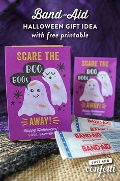 Scare the Boo Boos Away this Halloween! Band-Aids cover every boo boo and many non-existent boo boos in our house simply because my kids think it's fun to wear their favorite characters on the Band-Aid. We are always going though boxes of Band-Aids…so it