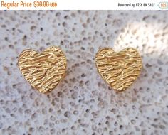 gold heart studs heart earring post earrings gift by preciousjd Kids Earrings, Cute Earrings, Heart Earrings, Gold Earrings, Matching Necklaces, Heart Of Gold, Gifts For Women, Delicate, Pure Products