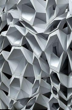 Featuring parametric and computational architecture and design Architecture Paramétrique, Amazing Architecture, Contemporary Architecture, Architectural Pattern, Parametric Design, Facade Design, Texture, Op Art, Photography Ideas