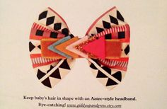 Hair accessory for baby girl. Featured in 'Mollie Makes' magazine.