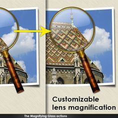 Magnifying Glass Photoshop Action (Buy)
