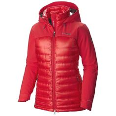The Columbia Women's Heatzone 1000 TurboDown is a super-warm, hooded jacket that is made for the mountain and that stays warm, even when wet. Winter Coats Women, Winter Jackets, Jackets For Women, Clothes For Women, Puffer Jackets, Dress Me Up, Columbia, Hooded Jacket, Hoods