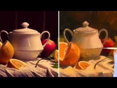 in this http://ArtistsNetwork.tv preview of Painting Still Lifes: Color & Light with Richard Robinson learn oil painting tips on how to draw your still life, and painting techniques for color choices.