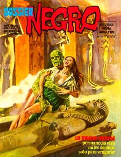 DOSSIER NEGRO // pulp comics terror mummy cover art