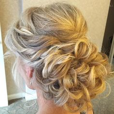 Looped Updo With Side Twists