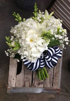 Nautical Wedding 4 | All-white with snapdragons, hydrangea, … | Flickr