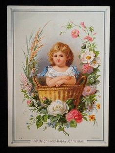 Great for Crazy Quilting Vintage Greeting Cards, Vintage Postcards, Vintage Pictures, Vintage Images, Antique Roses, Cute Illustration, Vintage Children, Vintage Prints, Artist