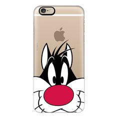 iPhone 6 Plus/6/5/5s/5c Case - Sylvester Cat Portrait (590 ARS) ❤ liked on Polyvore featuring accessories, tech accessories, phone cases, phone, cases, iphone, iphone case, iphone cover case, apple iphone cases and cat iphone case