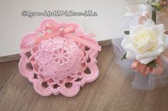 Piastrelle rotonde per sacchettini | I gomitoli di Camilla Crochet Gifts, Crochet Baby, Knit Crochet, Hobbies And Crafts, Diy And Crafts, Wedding Favors, Party Favors, Photo Pattern, Manta Crochet