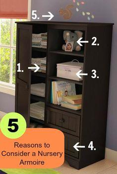 The Nursery List: 5 Reasons to Consider a Nursery Armoire