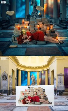 Photoshop Fantasy Car And Boy Photo Manipulation Tutorial - Artist creates amazing fantasy dreamscapes into her small studio without using photoshop