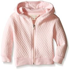 Burts Bees Baby Baby Quilted Organic Zip Hoodie Blossom 03 Months >>> Check out the image by visiting the link. (This is an affiliate link) #BabyGirlTops