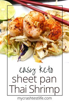 Here is another one of my super easy yet super tasty recipes.  This sheet pan Warm Thai Shrimp Salad simply combines ingredients such as shredded cabbage, shrimp, coconut aminos, garlic and tamarind paste to form a delicious salad. Healthy, Whole30, Keto and easy to make. #sheetpanthaishrimp #sheetpan #shrimp #warmshrimpsalad #whole30 #paleo #keto #thaiseasoned #roastedshrimp Seafood Casserole Recipes, Low Carb Shrimp Recipes, Seafood Recipes, Beef Recipes, Cooking Recipes, Thai Shrimp, Shrimp Salad, Thai Chicken, Tamarind Paste