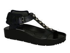 Balenciaga women's flat sandals in black Leather - Italian Boutique €290