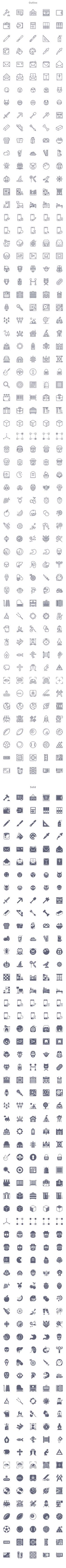 Free Download : Smashicons: 300 Free Icons (outlined, webby, solid and flat)