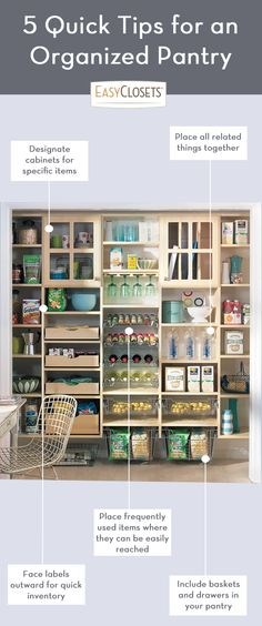 How to create an organized kitchen pantry.