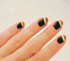 "Le nail art ""Belgium go for Brazil"""