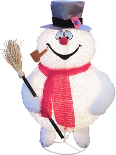 Christmas Lighted Frosty Snowman Rudolph Story Out Door Yard Art Decoration