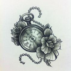 Pocket watch tattoo: