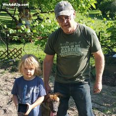 """Do you just want to work in your garden and pet your dog?  Get this organic cotton shirt at WeAddUp.com (type """"garden dog"""" in the search box to find it!). #doglover  #dogs  #marchagainstmonsanto  #monsantosucks  #stopmonsanto  #fuckmonsanto  #labelgmos  #boycottmonsanto  #organic  #organicfood  #organiccotton  #organicliving  #organiclife  #organicgarden  #organicgardening  #organicfarming  #gmofree  #nogmo  #nogmos"""