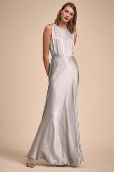 9b76ecafa86b BHLDN's Ghost London Alexia Dress in Fog #bridaljewelrynavy Wedding  Bridesmaids, Grey Bridesmaid Dresses,