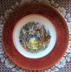 Vintage Salem China Godey print pattern - Southern Vintage Table