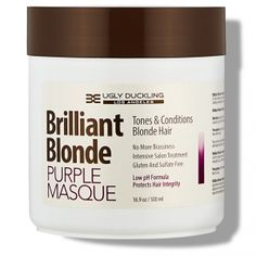 Brilliant Blonde Purple Mask oz ml) Tones & Conditions Blonde Hair No More Brassiness Intensive Salon Treatment Gluten and Sulfate Free Low pH Formula Protects Hair Integrity pH Hair No More, Beauty Is Fleeting, Best Hair Mask, Hair Color Formulas, Perfume Gift Sets, Hydrate Hair, Hair Masque, Dry Damaged Hair, Hair Care Tips