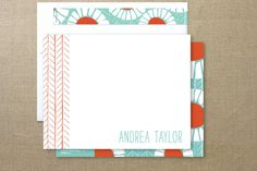 Pretty Poppies Personalized Stationery at Minted