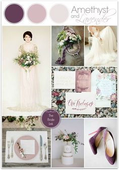 purple winter wedding colors