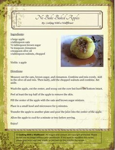 No Bake Baked Apples   Cooking with a Wallflower #easy #healthy #micro #college