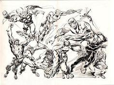 Avengers Pencil Art by John Buscema