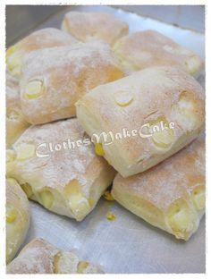 芝士粟米意大利麵包