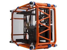 IN WIN D-FRAME Orange Aluminum ATX Desktop Chassis Limited Edition, Open-Air design