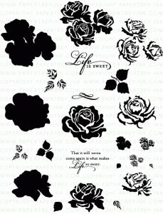 The Sweet Life Stamp Set. Sweet! These would be great patterns to use for acid etching on glass.
