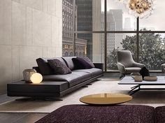 Upholstered fabric sofa MONDRIAN | Sofa by poliform