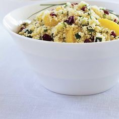 Cranberry and Orange Couscous Salad Couscous Salad Recipes, Ricardo Recipe, Orange, Healthy Eating, Healthy Food, Macaroni And Cheese, Salads, Dinner Recipes, Vegetarian Food
