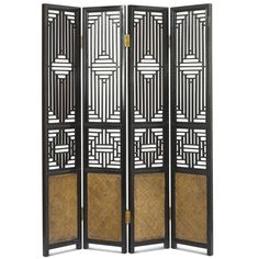 x Hangzhou Carved Ming 1 Panel Room Divider Ethnic Elements Finish: Black Lacquer Divider Screen, Panel Room Divider, Room Dividers, Chinese Furniture, Oriental Furniture, Hangzhou, Floor Screen, Sideboard Furniture, Decorative Screens
