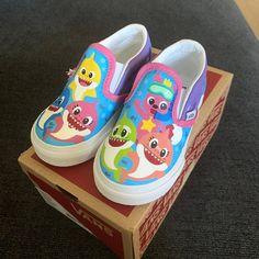 Custom Baby Shark Slip on Shoes Toddler Girl Shoes, Baby Girl Shoes, Girls Shoes, New Shoes, Slip On Shoes, Shark Shoes, Gap Brand, Little Girl Birthday, Birthday Ideas