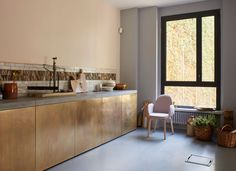 INTERIOR DESIGN The Danish furniture company Fritz Hansen is welcoming guest to their home these days on the furniture fair Sal. Brass Kitchen, Diy Kitchen, Kitchen Interior, Kitchen Dining, Kitchen Decor, Kitchen Cabinets, Kitchen Units, Kitchen Ideas, Glass Cabinets