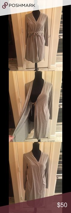 Maternity/Post pardon robe Bump in the night, Maternity and Post pardon robe or coverup. Inner and outer ties. The most comfortable thing you can have on! Only worn once. Bump In The Night Intimates & Sleepwear Robes