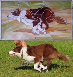 Custom Stained Glass of Your Pet. Yes, I can do this.....