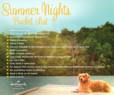 Summer Nights Bucket List - Ideas to make the most of this summer! Enter for a chance to win $500 in our #HappySummer Pinterest Sweepstakes! #HappySummer #HallmarkChannel