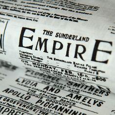 Bavlněná látka Noviny Empire černé na bílé