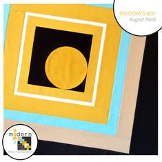 "Modern Block of the Month (BOM) Sew-Along: August ""Pandora's Box"" Block by Alyssa Lichner of Pile o' Fabric | Sew Mama Sew |"
