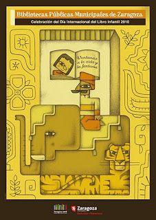 Postal para celebrar el Día Internacional del Libro infantil en las Bibliotecas Municipales de Zaragoza (2010). Alberto Gamón