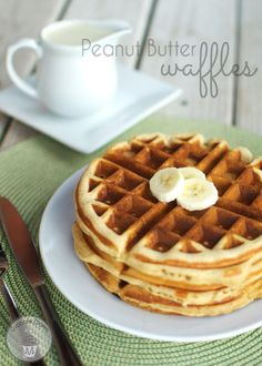 Peanut Butter Waffles on MyRecipeMagic.com