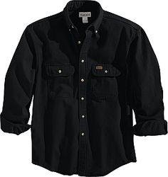 $36.99 Carhartt Sandstone Twill Button Down Shirt Mens