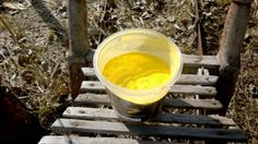 Yellow pigment for self-made paint.